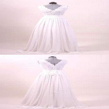Account Suspended - Exquisite a-line floor-length chiffon wedding dress with applications - - accou