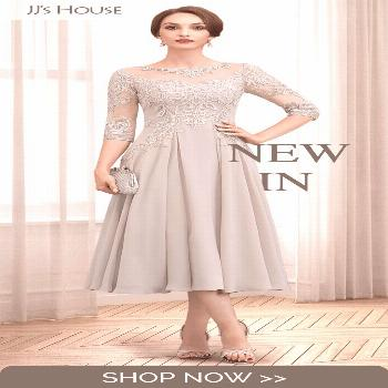 NEW IN✨A-Line Tea-Length Chiffon Lace Mother of the Bride Dress With Beading Sequins#beading