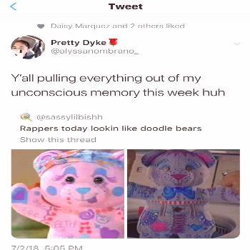 Nobody should want to look like a doodle bear.