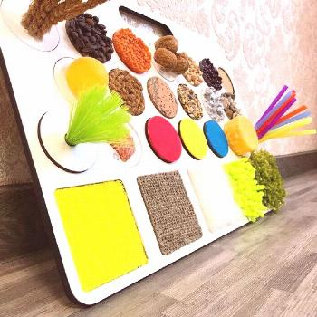 Sensory Board for Toddler Busy Board Montessori toy Tactile Child Development Infant Educational Wo